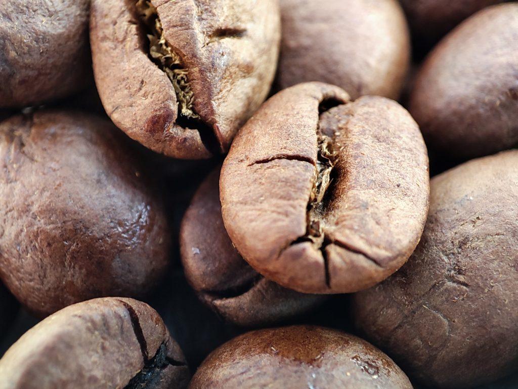 Closeup koffieboon